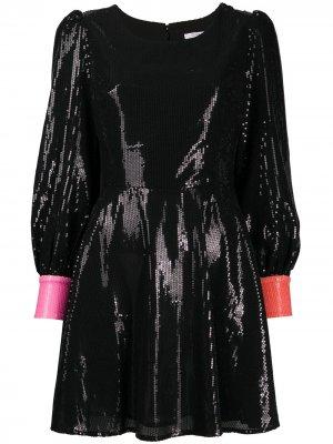 Платье Bea с вырезом в форме сердца Olivia Rubin. Цвет: черный