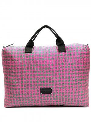 Дорожная сумка с геометричным принтом 10 CORSO COMO. Цвет: розовый