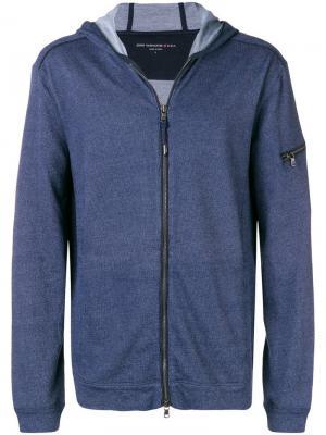 Zipped hoodie John Varvatos. Цвет: синий