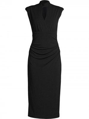 Платье миди с высоким воротником Nicole Miller. Цвет: черный
