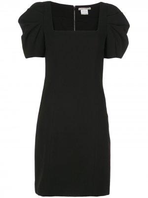 Платье мини Rachel с объемными рукавами Alice+Olivia. Цвет: черный