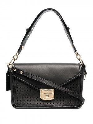 Маленькая сумка-тоут Mademoiselle с перфорацией Longchamp. Цвет: черный
