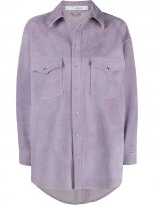 Куртка-рубашка на пуговицах IRO. Цвет: фиолетовый