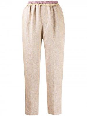 Укороченные брюки строгого кроя с завышенной талией Forte. Цвет: фиолетовый