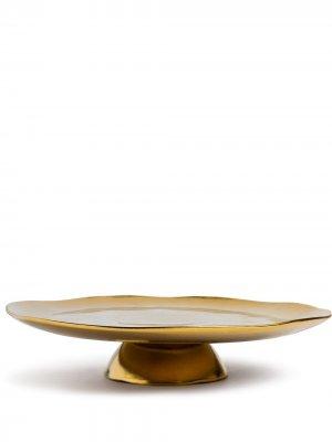 Подставка для торта La Tavola Scomposta Bitossi Home. Цвет: золотистый