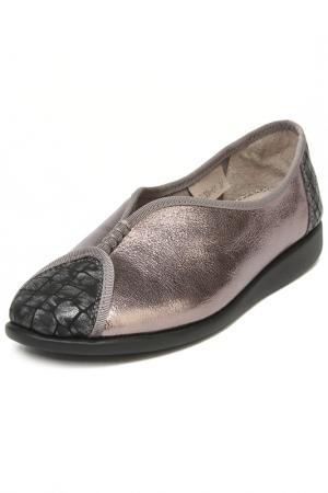 Туфли Berkonty. Цвет: темно-серебряный