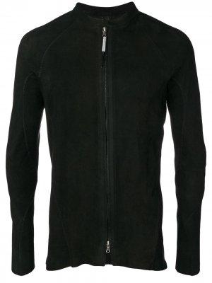 Кожаная куртка Arpenteur с металлическим декором на спине Isaac Sellam Experience. Цвет: черный