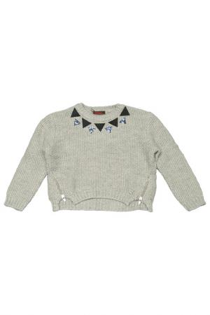 Пуловер Catimini. Цвет: серый