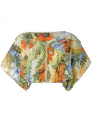 Укороченная блузка с принтом Jean Paul Gaultier Pre-Owned. Цвет: разноцветный