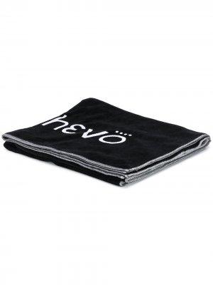 Пляжное полотенце с логотипом Hevo. Цвет: черный