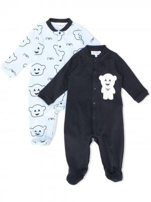 Пижама с принтом Emporio Armani Kids. Цвет: синий