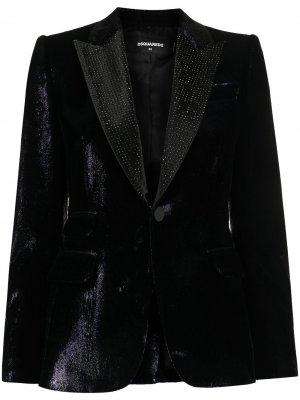Пиджак-смокинг Dsquared2. Цвет: синий