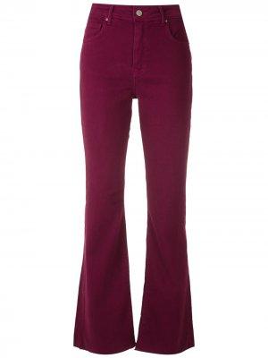 Укороченные расклешенные брюки чинос Eva. Цвет: красный