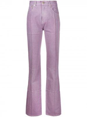 Вельветовые брюки с завышенной талией Jacquemus. Цвет: фиолетовый