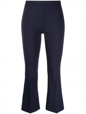Укороченные расклешенные брюки Blanca Vita. Цвет: синий