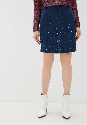 Юбка джинсовая Yumi. Цвет: синий