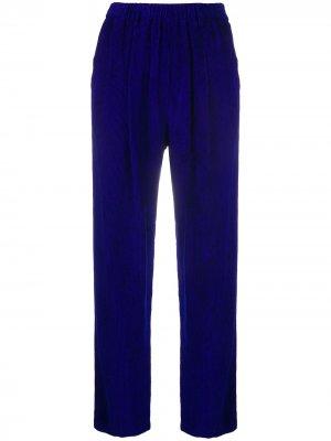 Прямые брюки Forte. Цвет: синий