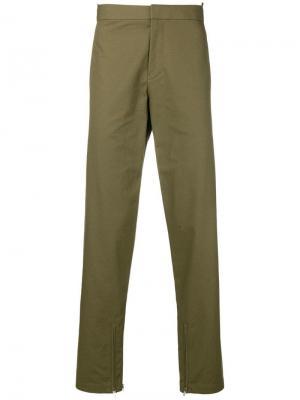 Прямые брюки Helmut Lang. Цвет: зеленый