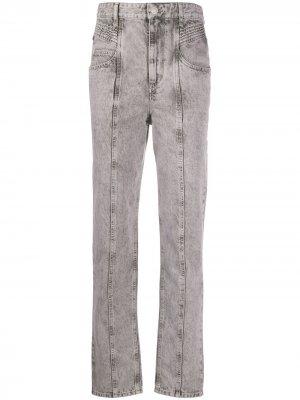 Зауженные джинсы Henoya Isabel Marant Étoile. Цвет: серый