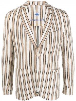 Пиджак из джерси без подкладки Manuel Ritz. Цвет: нейтральные цвета