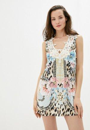 Платье пляжное River Island. Цвет: разноцветный