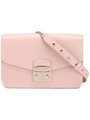 Классическая сумка на плечо Furla. Цвет: розовый и фиолетовый