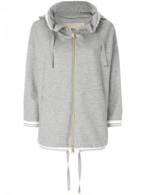 Утепленная куртка с капюшоном Herno. Цвет: серый