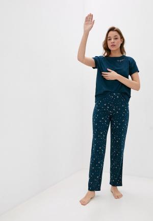 Пижама Marks & Spencer. Цвет: бирюзовый