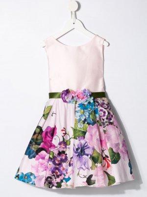 Платье с цветочным принтом Lesy. Цвет: розовый
