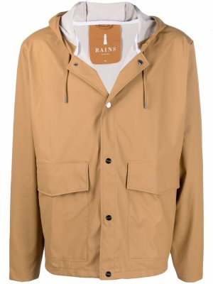 Непромокаемая куртка с капюшоном Rains. Цвет: нейтральные цвета