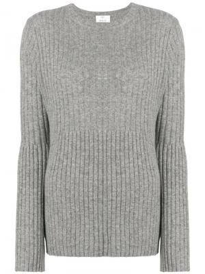 Ribbed knit jumper Allude. Цвет: серый