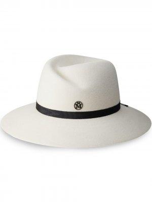 Шляпа-федора Virginie Maison Michel. Цвет: белый