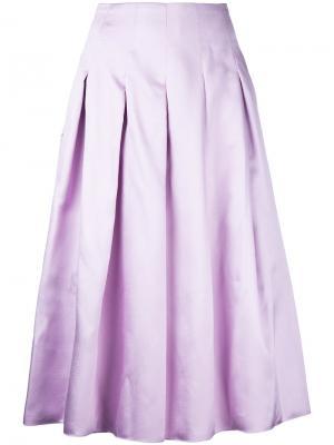 Плиссированная юбка миди Bambah. Цвет: розовый