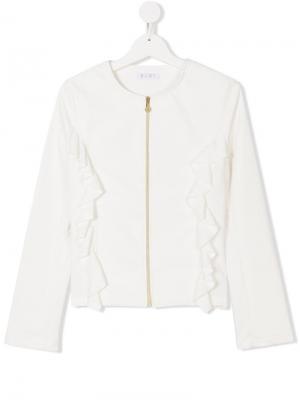 Куртка на молнии Elsy. Цвет: белый