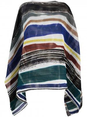 Накидка с абстрактным узором Pleats Please Issey Miyake. Цвет: нейтральные цвета