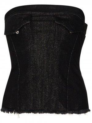MarquesAlmeida джинсовый топ-корсет с эффектом металлик Marques'Almeida. Цвет: черный