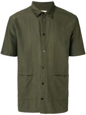 Pointed collar shirt Folk. Цвет: зеленый