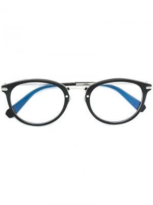 Round-frame glasses Brioni. Цвет: черный