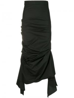 Присборенная юбка-макси A.W.A.K.E.. Цвет: черный