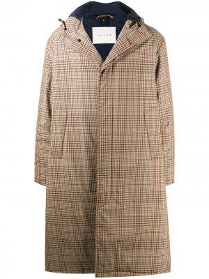 Клетчатое пальто Mackintosh. Цвет: нейтральные цвета
