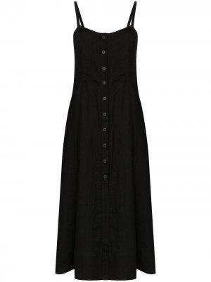 Платье миди Bonita на пуговицах Three Graces. Цвет: черный