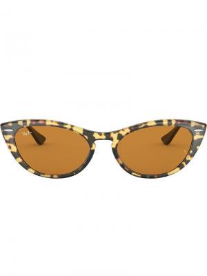 Солнцезащитные очки Nina Ray-Ban. Цвет: черный
