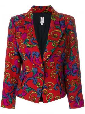 Блейзер с абстрактным цветочным узором Emanuel Ungaro Pre-Owned. Цвет: красный