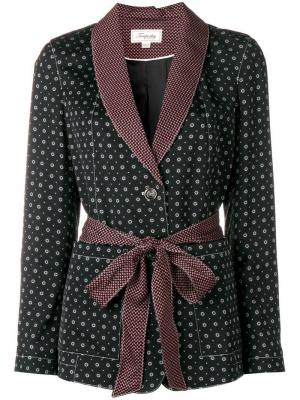 Пиджак Joyce в пижамном стиле Temperley London. Цвет: черный