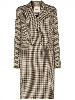 Двубортное пальто Tay Brøgger. Цвет: коричневый