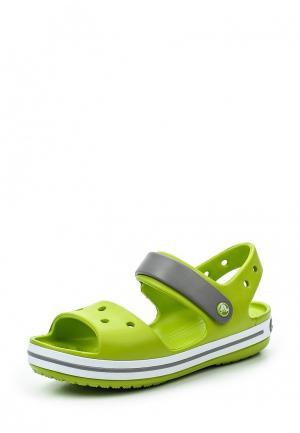 Сандалии Crocs. Цвет: зеленый
