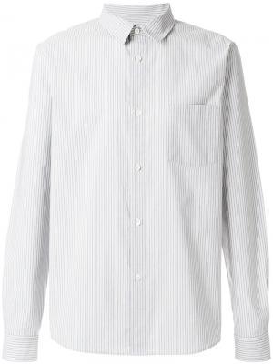 Прямая рубашка с полосатым узором A.P.C.. Цвет: синий