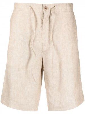 Однотонные шорты-бермуды Loro Piana. Цвет: нейтральные цвета