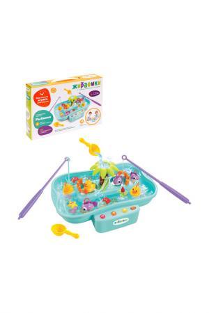 Развивающая игрушка Рыбалка ЖИРАФИКИ. Цвет: голубой