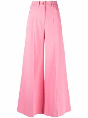 Укороченные брюки со складками Valentino. Цвет: розовый